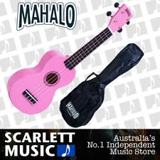 MAHALO Pink Soprano Uke Ukulele MR1-PK w/Carry Bag & Aquila Strings