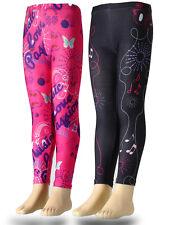 Niños Niñas Pantalones deportivos polainas Violetta Fucsia Negro 116 128 140 152