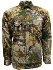 Mens Jungle Print Long Sleeve Shirt Camouflage Hunting Fishing Sporting M-2XL