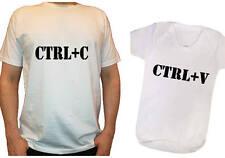 Father's Day ctrl c ctrl v son matching set t-shirt, baby vest copy paste