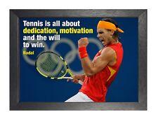 Rafael Nadal 1 Motivation Inspiration Quote Photo Spanish Tennis Player Poster