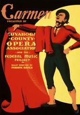 Tz63 vintage Carmen Théâtre d'opéra Art Poster A1 A2 A3