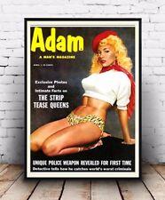 Adam , Vintage Men's magazine cover : Reproduction advert, poster, Wall art.