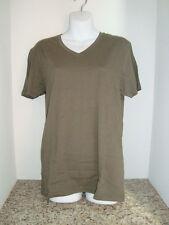 New Asos Womens Basic V Neck T Shirt Khaki Green Small
