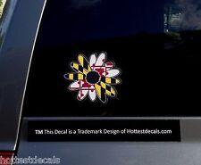 MARYLAND STATE FLOWER DECAL CAR STICKER MD FLAG BLACK EYED SUSAN DESIGN