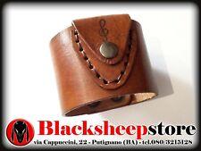 bracciale portaplettro cuoio Made in Italy Leather porta plettro artigianale
