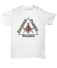 Masonic shirt Entered Passed Raised Freemasonry square compass symbol Lodge tee