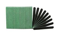 Negro de Lujo 120/240 Grit (Verde Centro) Lavable Salón Belleza Spa Lima de Uñas