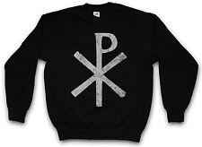 CHI RHO SYMBOL PULLOVER ? XP Ichtys Jesus Christus Christ Pax Christi Logo