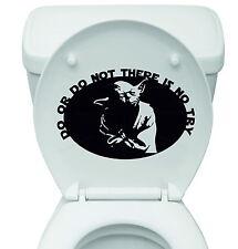"""Yoda """"vogliono o non, non vi è alcuna prova"""" Star Wars VINILE SEDILE WC Adesivo Decalcomania"""