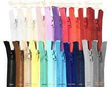 "5 - 25 pc Chunky Plastic Separating Zipper / Gauge 5 - 14"", 16"", 18"", 20"", 22"""