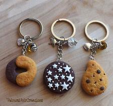 Portachiavi biscotti mulino bianco abbracci pan di stelle gocciole fimo regalo