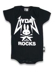 BABY ROMPER ROCKABILLY GIFT BABY SHOWER MY DAD ROCKS SIX BUNNIES TATTOO METAL