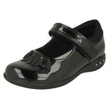 CLARKS filles Prime STEP cuir verni noir élégant Babies