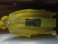 Splashmac pvc poncho pour la pluie mac unisexe taille unique rouge jaune bleu gris art designs