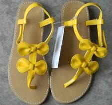 Shoes Gymboree,Preppy Peach,yellow sandals,bow trimmed,sz.10,12,13,1,2,3,6,NWT