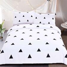 3D Black Triangle 401 Bed Pillowcases Quilt Duvet Cover Set Single Queen CA