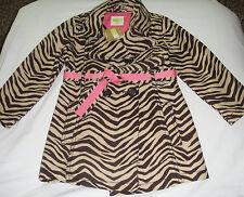 Crazy 8 brown zebra print trench coat NWT XS 4 4T jacket trenchcoat