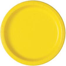 Amarillo Neón 17cm POSTRE Pastel Platos de papel para Fiesta Celebración Boda