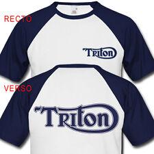 T-Shirt TRITON - Triumph Norton Moto Anglaise BSA Vintage Retro biker Motorcycle