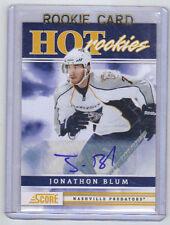 11-12 Score Signatures Jonathan Blum Auto Rookie Card RC #517 Mint Rare