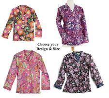 Vera Bradley PAJAMA TOP LS 100% Cotton - U Choose Design & Size (New & Sealed)