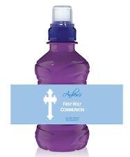 6 x Personalised Fruit Shoot / Water Bottle Label Wrapper - Boy Communion 4
