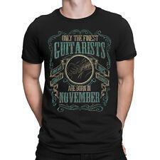 Mens GUITAR T-Shirt Finest Guitarists Born in NOVEMBER Music Birthday Christmas