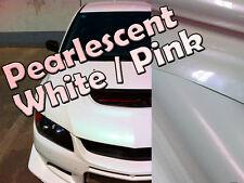 Variochrome perlescenti Pearl Bianco / Rosa Veicolo Avvolgere Adesivo Vinile Adesivo Pellicola