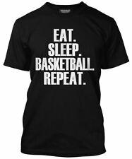 Comer dormir Baloncesto repetir T Shirt-Reproductor De Regalo De Todos Los Colores Tee Para Hombre