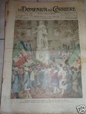 DOMENICA DEL CORRIERE-1923-N°44-COVER DE AMICIS TORINO