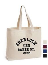 Sherlock Holmes 221B Baker Street libro de lona de algodón bolso Eco De Regalo Bolsas fan art