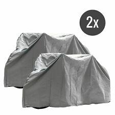 2x Fahrradabdeckplane grau für 1 Fahrrad wasserdicht mit Klett Befestigung