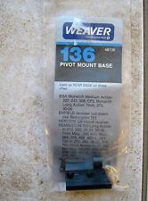 New Weaver Enfield Remington Weatherby BSA Rifle Pivot Rear Scope Base 48136