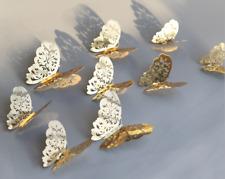 12 Pcs 3D Mariposa Pegatinas De Pared Arte Calcomanía Decoración para el Hogar Habitación Decoración Niños G/S