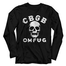 CBGB & OMFUG Skull Adult Long Sleeve T Shirt
