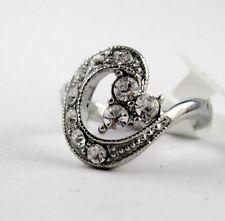 Glitzernder Ring Silber farben besetzt mit Strass Orientalisches Design (B59-1)
