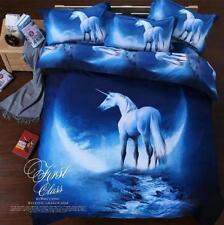 Horse 3D Bedding Set Doona Quilt Duvet Cover Set and Pillow Case Twin Queen Size