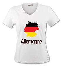 T-shirt Femme Carte Allemagne - drapeau allemand - du S au 2XL