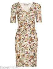 M&S Collection Cream Mix Floral Paisley Twist Front Dress Sz 10 12 20