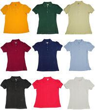 b20a1d8f06b French Toast School Uniform Big Girls Plus Short Sleeve Stretch Pique Polo