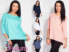Elegant Tunic Poncho Style Unique Style Blouse Top 3/4 Sleeve Sizes 8-12 0127