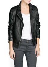 Women Leather Jacket Soft Solid Lambskin New Handmade Motorcycle Biker S M # 18