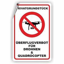 Drohnen Überflug verboten Quadrocopter Aufkleber Privatgrund Militär D-145