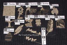 SCRAP FX Chipboard 'BIRDS & BIRDCAGES' Embellishments (Choose from 17 designs)