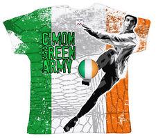 """DF """" C'mon verde militar"""" Republic Irlanda Fútbol Euro bebé camiseta"""