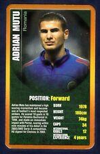 TOP TRUMPS-EUROPEAN FOOTBALL STARS-2004-ROMANIA & CHELSEA-PARMA-ADRIAN MUTU