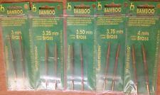 Pony Bamboo Interchangeable Gold brass End Circular Knitting Pins 3mm - 4mm