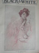 À La Toilette tableau Reginald Pannett 1903 ancienne photographie couleur