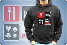 UNISEX sudadera O NIÑO COMER SLEEP PÓKER Texas Hold'em Las Vegas